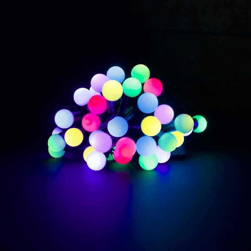 Светодиодная гирлянда Шарики 40л LED, 6м, Мультисвечение. Для дома и улицы