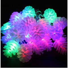 Светодиодная гирлянда Шишки 40л LED, 8м, Мультисвечение