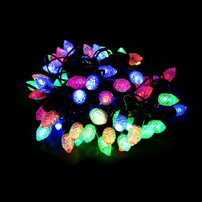 Светодиодная гирлянда Шишки 40л LED, 6м. Для дома и улицы