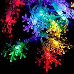 Светодиодная гирлянда Снежинка 40л LED, 4м, Мультисвечение