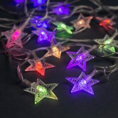 Светодиодная гирлянда Звезды 22л LED, 4м, Мультисвечение