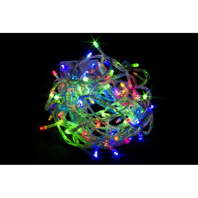 Гирлянда нить. Обычные лампы 100л. 4м. Разноцветная