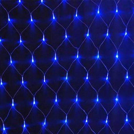 Гирлянда сетка. Светодиодные лампы 240л. LED 2x2м Синий цвет