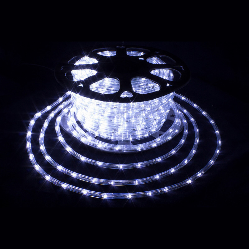 Дюралайт 100м LED 3-жилы Круглый, Белый