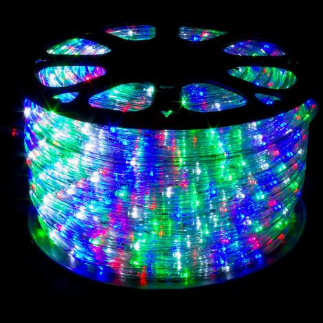 Дюралайт 100м LED 3-жилы Круглый, Разноцветный