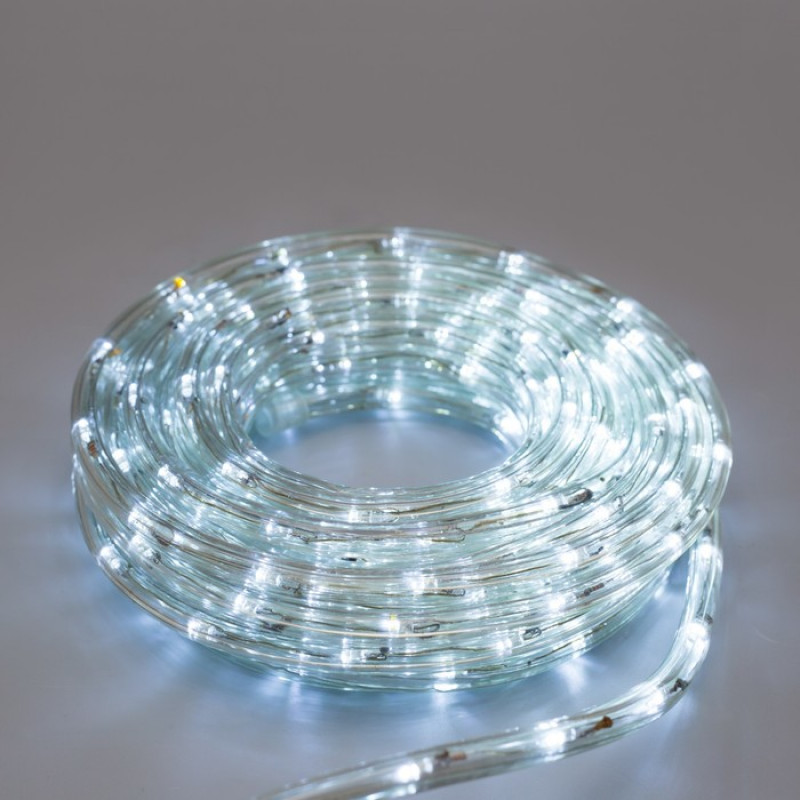 Дюралайт 20м LED 3-жилы Круглый, Белый