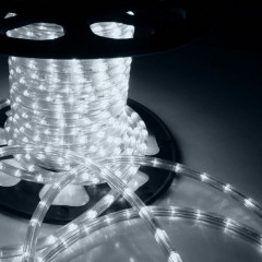 Дюралайт 10м LED 3-жилы Круглый, Белый