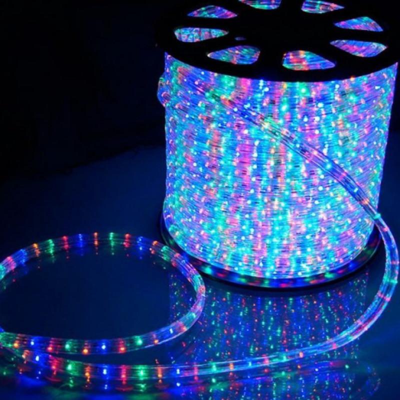 Дюралайт 10м LED 3-жилы Круглый, Разноцветный