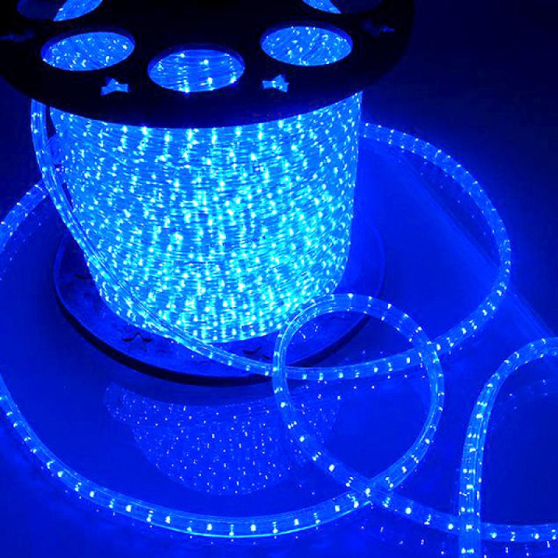 Дюралайт 20м LED 3-жилы Круглый, Синий