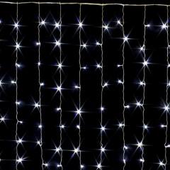 Гирлянда занавес светодиодные лампы 200л. LED 2x1.5м Белый цвет